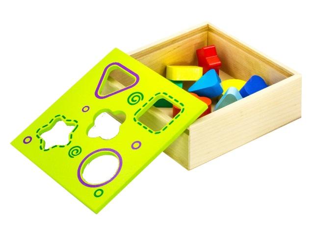 Сортер дерево Коробка 5 фигур Alatoys СОР03