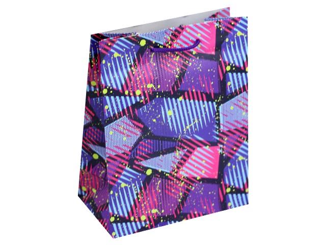 Пакет подарочный бумажный 18*23*10см Красочный узор Miland ПП-9095