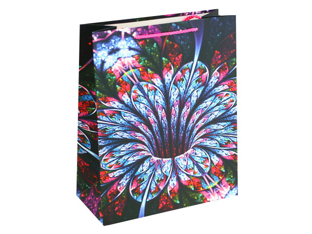Пакет подарочный бумажный 26*32*12см Тропический цветок Miland ПП-4113