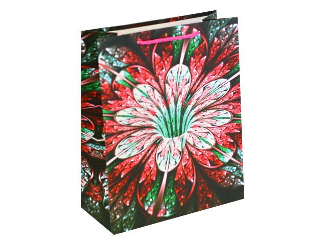 Пакет подарочный бумажный 26*32*12см Экзотический цветок Miland ПП-4112