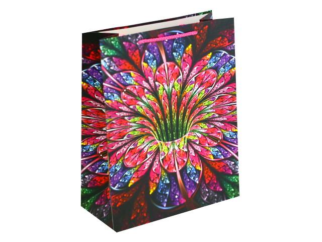 Пакет подарочный бумажный 26*32*12см Яркий цветок Miland ПП-4110
