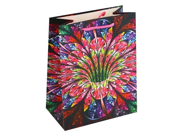 Пакет подарочный бумажный 42*31*12см Яркий цветок Miland ПП-4174