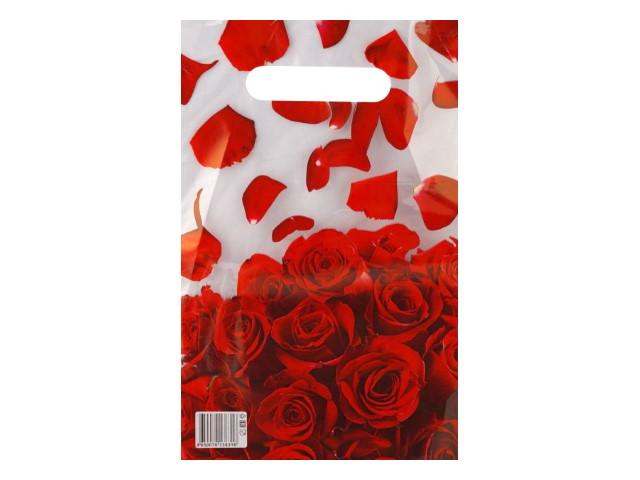 Пакет с прорезной ручкой 20*30см Лепестки роз Miland н00157466