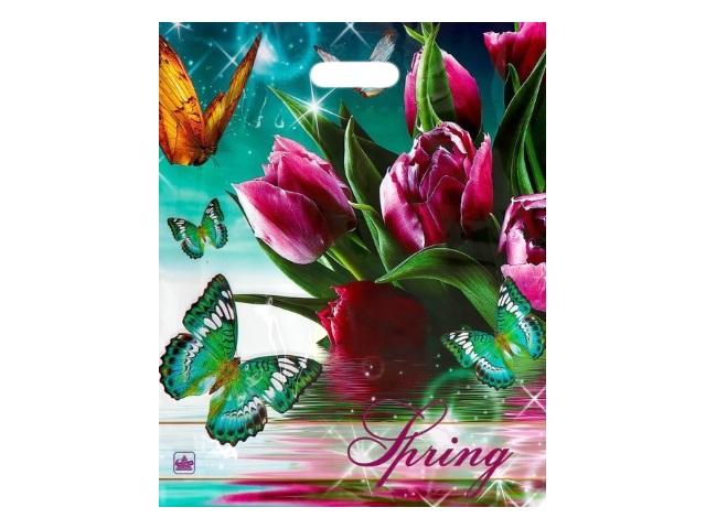 Пакет с прорезной ручкой 38*45см Весна-волшебница Miland н00056763