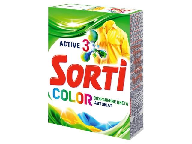 Порошок стиральный автомат  350г Sorti Color