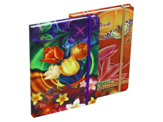 Записная книжка А5 Basir тв/переплёт  96л Цветы МС-4556