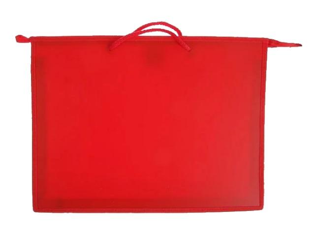 Папка на молнии А3 с ручками красная ПР3 7540