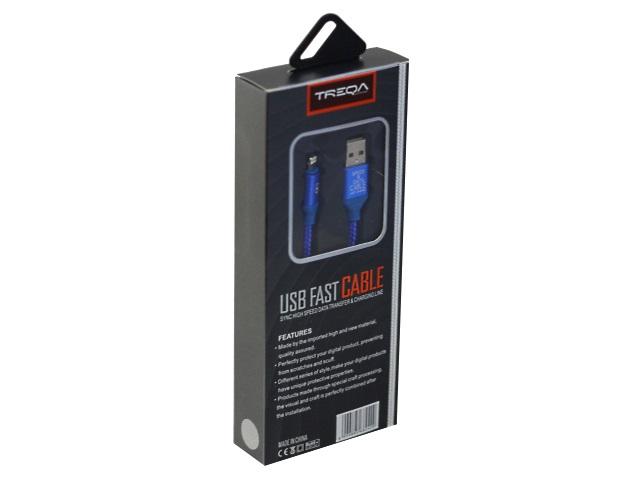 Кабель USB 1м Apple IPhone-5 Treqa CA-8242