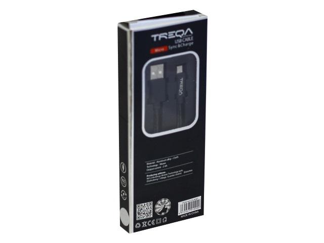 Кабель USB A 1.0м микро Treqa CA-8041