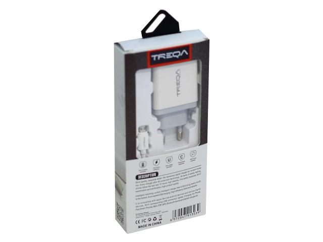Зарядное устройство для USB Treqa CН-203 + кабель microUSB