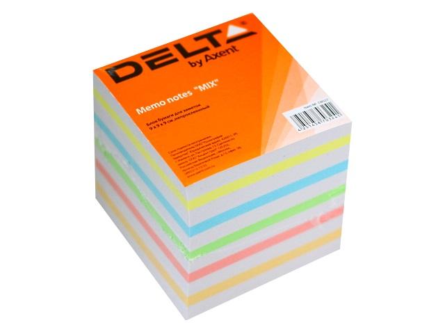 Блок бумажный цветной Axent 90*90 мм 900л D8027