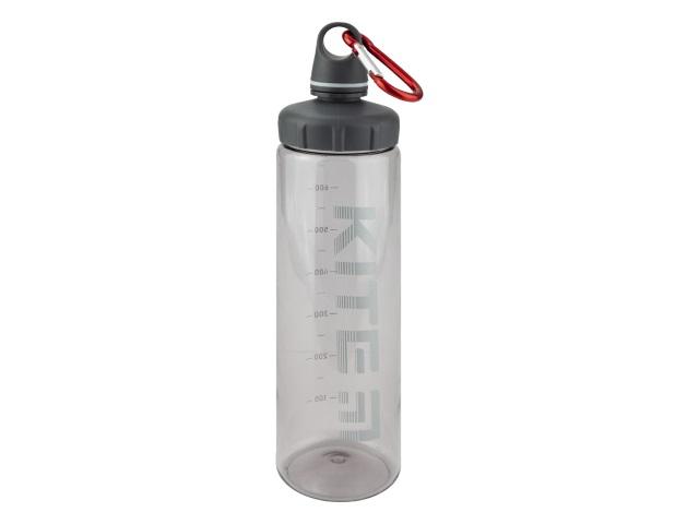 Бутылочка для воды Kite 750мл с карабином серая K19-406-03