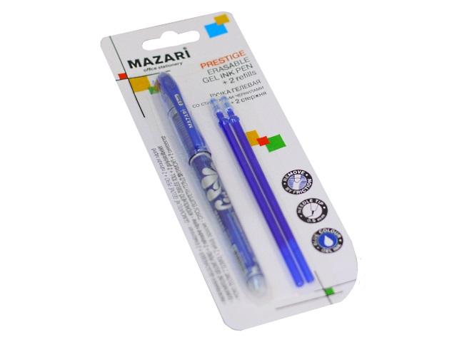Ручка пиши-стирай Mazari Prestige гелевая синяя 0.5мм + 2 стержня M-5540B-70