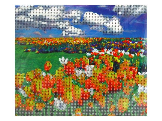 Алмазная мозаика с треногой 21*25см Поляна тюльпанов Mazari M-10404