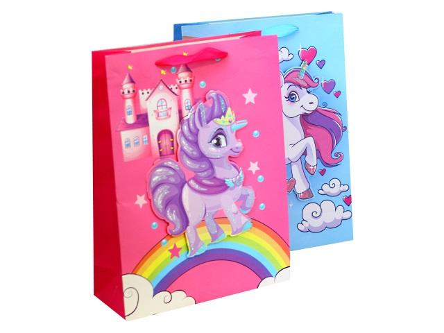 Пакет подарочный бумажный 40*30*12см Пони 3D 1143