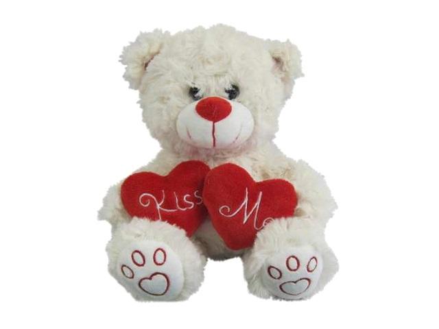Мягкая игрушка Медведь белый 18м с сердцем Kiss Me ABToys М5068