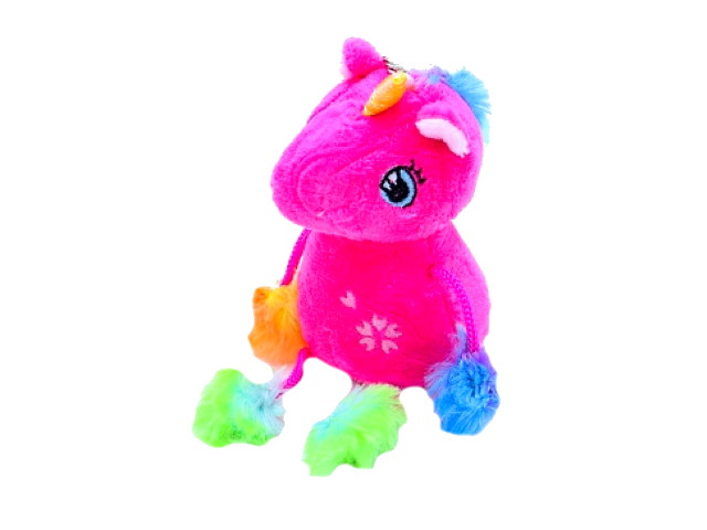Брелок мягкая игрушка Единорожек 14см Рыжий кот D028