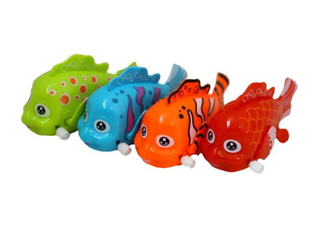Заводная игрушка для купания Аквабум Цветные рыбки 11см 101032247
