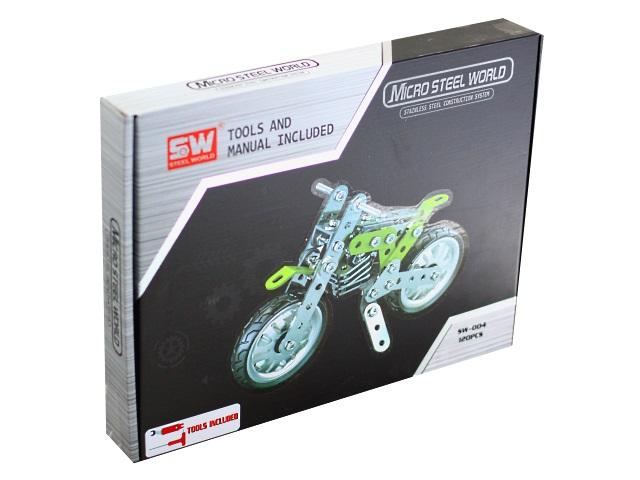 Конструктор металл 120 деталей Мотоцикл 1836085