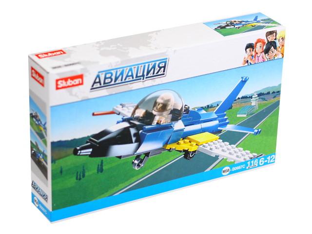 Конструктор 116 деталей Авиация Самолет Sluban M38-B0667C