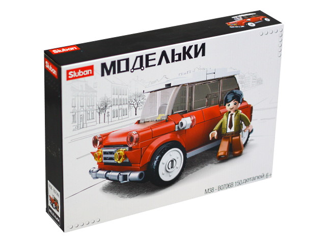 Конструктор 150 деталей Модельки Автомобиль Sluban M38-B0706B