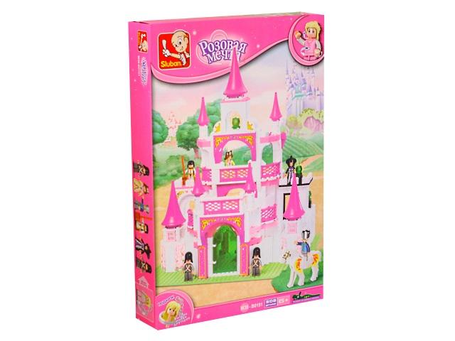 Конструктор 508 деталей Sluban Розовая мечта Королевский замок M38-B015