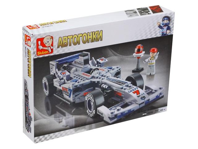 Конструктор  257 деталей Sluban Автогонки Формула 1 Гоночный автомобиль M38-B03