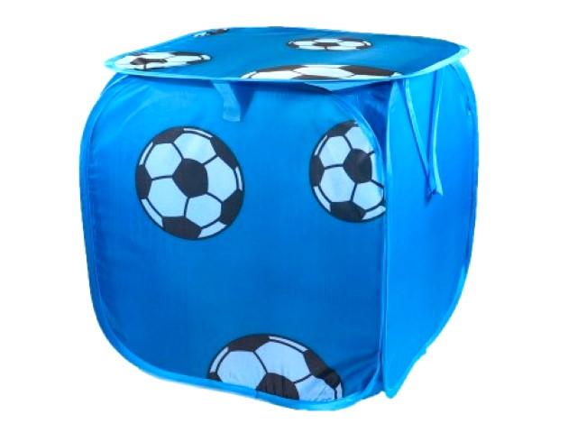 Корзина для игрушек 45*45*45см Мячи синий B24975
