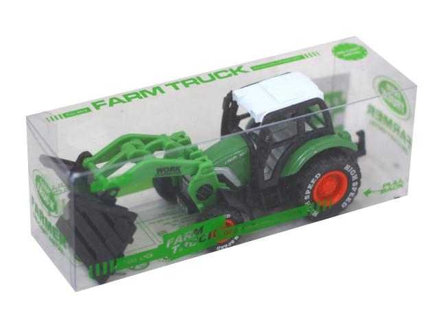 Машина металл Автомир Трактор с подвижным ковшом 12см 1640796