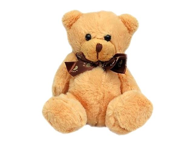 Мягкая игрушка Пушистик Медвежонок 10см с бантиком 200375658