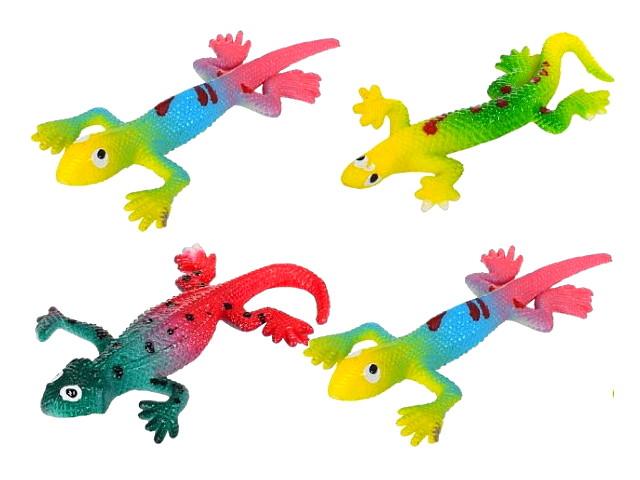 Ящерица 10см с подвесом цветнаяT176