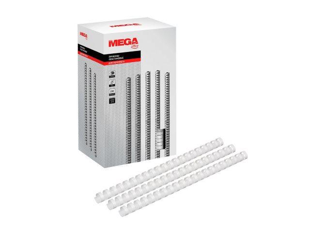 Пружины для брошюровки 19 мм белые 100 шт. ProMega 255101