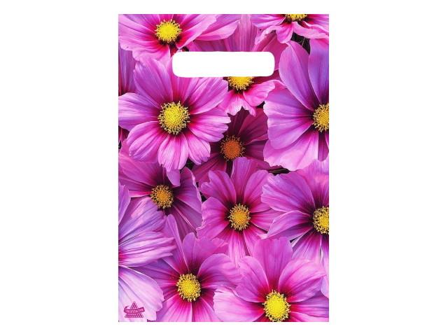 Пакет с прорезной ручкой 20*30см Яркие хризантемы Miland н00178383