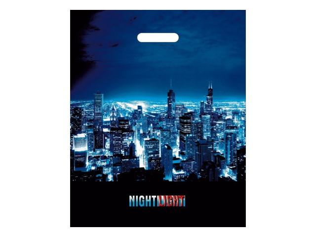 Пакет с прорезной ручкой 38*47см Ночные огни Miland СП-2731