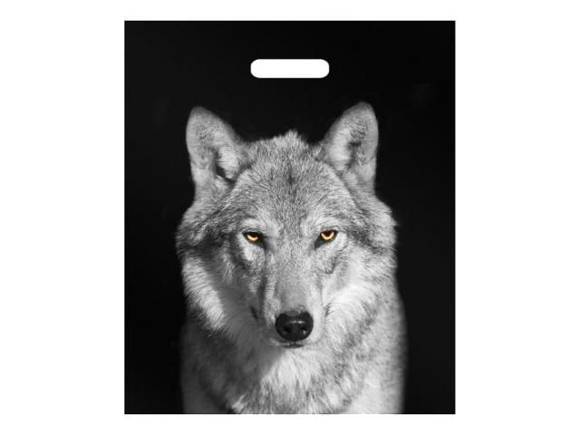 Пакет с прорезной ручкой 38*45см Волк Miland н00170042