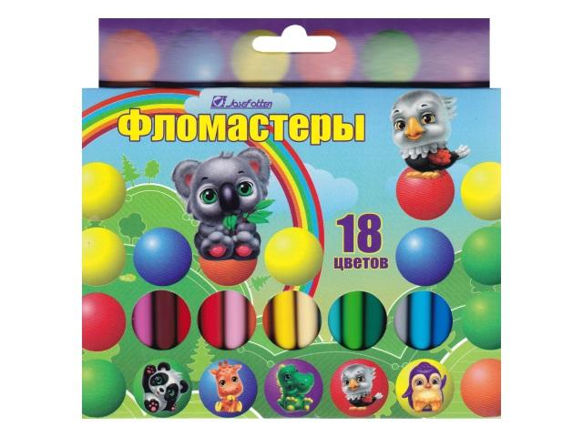 Фломастеры 18цв J.Otten Зверята 6816Z-18