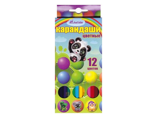 Карандаши цветные 12цв J.Otten Зверята шестигранные 7303Z-12