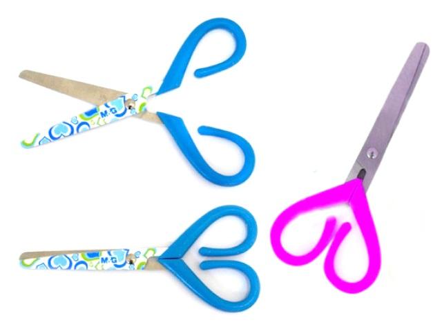 Ножницы детские 12.5 см пластиковые ручки Сердце J.Otten 8248