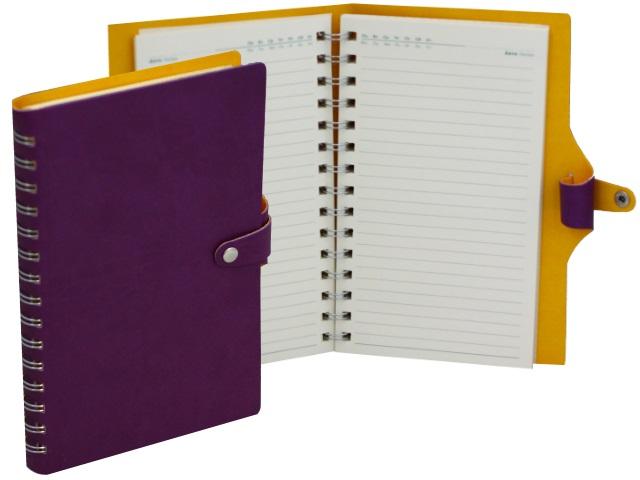 Ежедневник А5 кожзам 128л Hatber Vivella Bicolour фиолетовый на спирали 128Ед5_04746