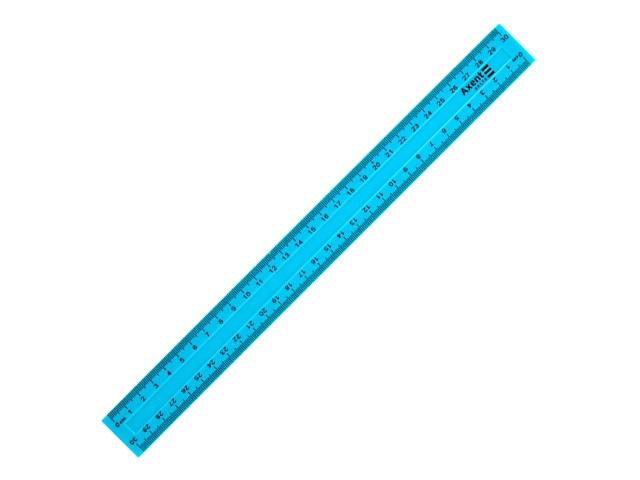 Линейка  30 см Axent голубая D9800-03