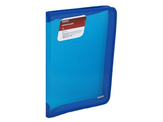 Папка на молнии А4 Axent прозрачная синяя 1801-22-A