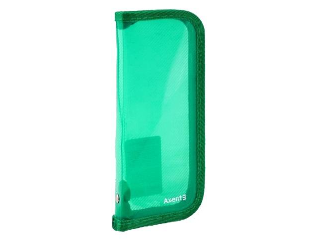 Пенал-косметичка Axent пластик прозрачный зеленый 1803-26-A