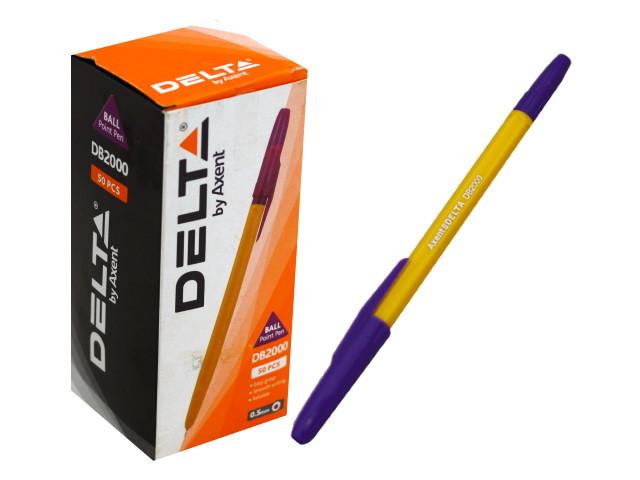 Ручка шариковая Axent Delta фиолетовая 0.5мм DB2000