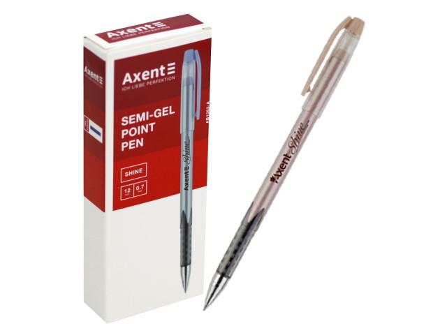 Ручка масляная Axent Shine синяя 0.5мм AB1063-02-A