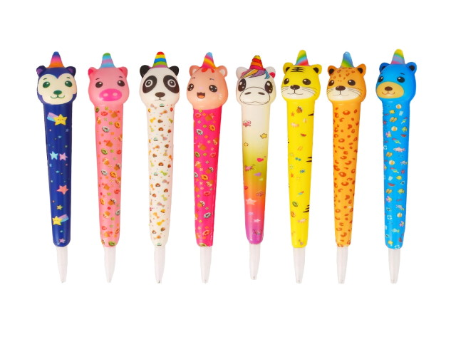 Ручка шариковая Mazari Сквиш Happy Zoo синяя 0.7мм M-7499-70