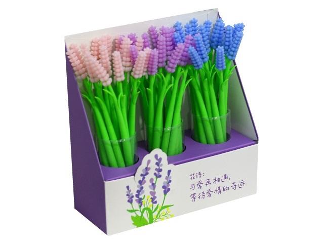 Ручка гелевая Mazari My Flower синяя 0.5мм M-5352-70