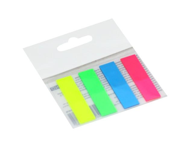 Стикер-закладка 45* 6мм 4 цвета по 20л пластик Legend ЗС-1878