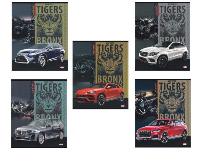 Тетрадь 48л клетка Тигр и кроссовер Prof Press 48-6960