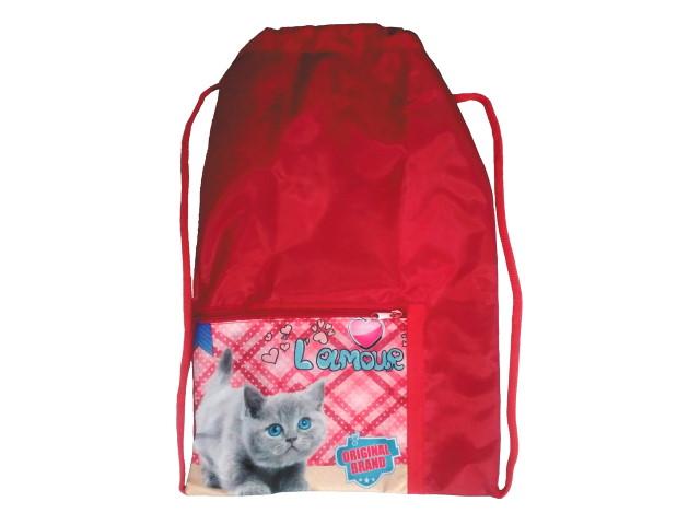 Сумка для обуви с карманом Prof Press Голубоглазый котик МО-6173