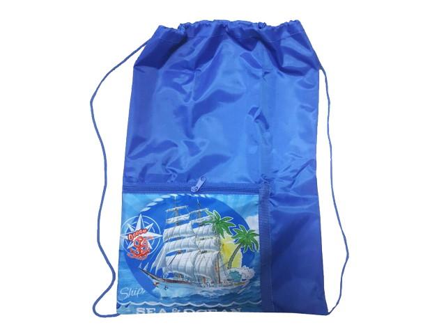 Сумка для обуви с карманом Prof Press Судно в океане МО-6176